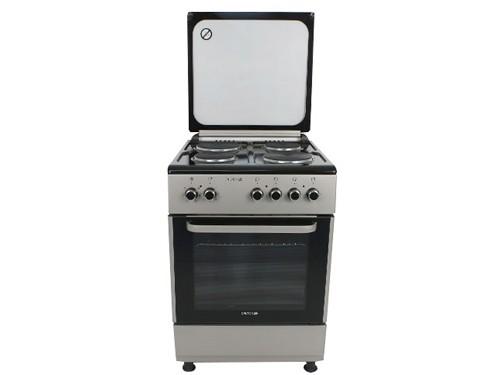 Cocina Eléctrica Plata 60cm 4 Hornallas grill Turbo Tapa Dalton