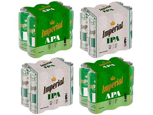Cerveza Pack Imperial APA - IPA lata 473cc x 24