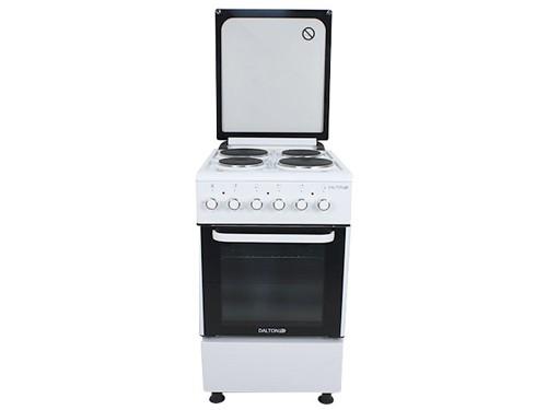 Cocina Eléctrica Blanca con Tapa 50x60cm Horno Dalton