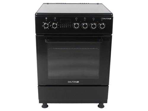 Cocina Eléctrica Vitrocerámica Negra 60x60cm 4 Placas Dalton
