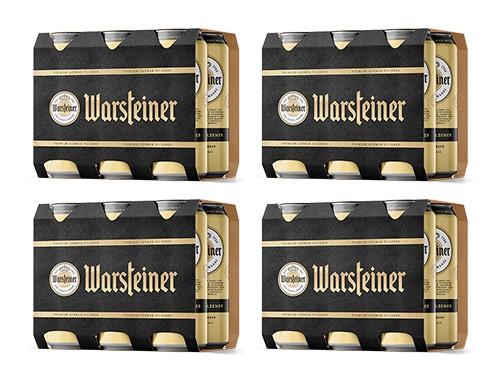 Cerveza Pack Warsteiner x 24 latas 473cc