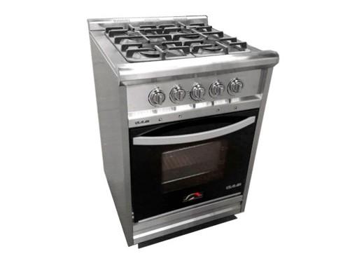 Cocina Industrial Inoxidable 60 cm Rejas Fundición Usman
