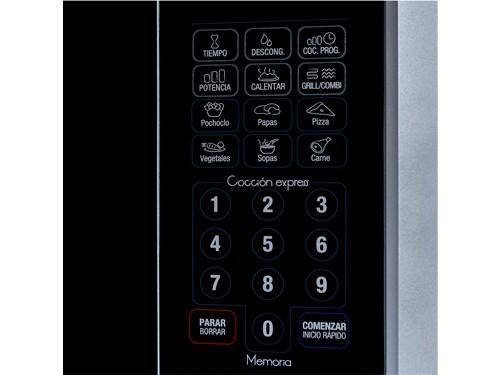 Microondas Digital Plata 23 lts. con Grill 1.250w BGH