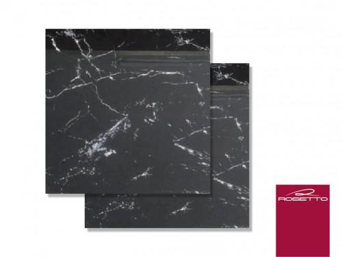 Porcelanico Rosetto Noir Laurent Marmol 84x84 Negro Pulido