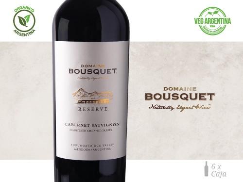 Vino Cabernet Sauvignon Reserve Organico 6x750 ml. Domaine Bousquet