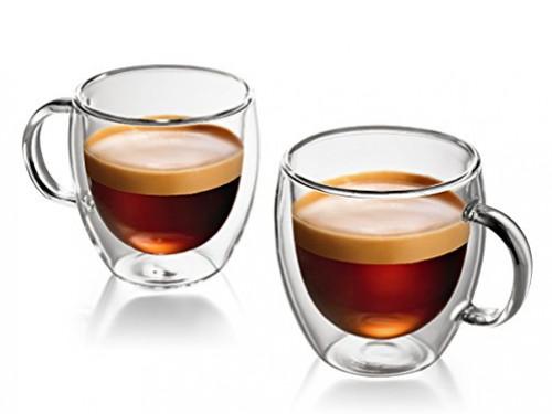SET X 6 POCILLOS DE CAFÉ DE DOBLE VIDRIO!125ML DESTACÁ AÚN MAS TU CAFÉ
