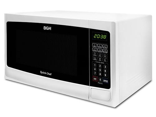 Microondas digital Blanco 28 lts. 900 watts Grill BGH
