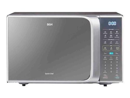 Microondas Digital Plata 23lts Grill 1250w BGH