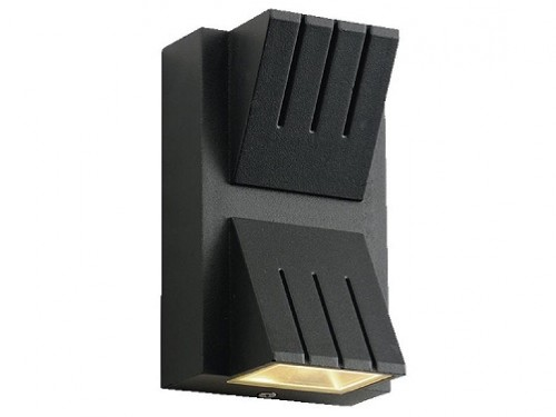 Aplique bidireccional rectangular vertical LED 5W Bael Neco negro
