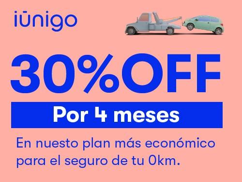 Seguro de plan base para tu auto 0KM con 30% OFF por 4 meses