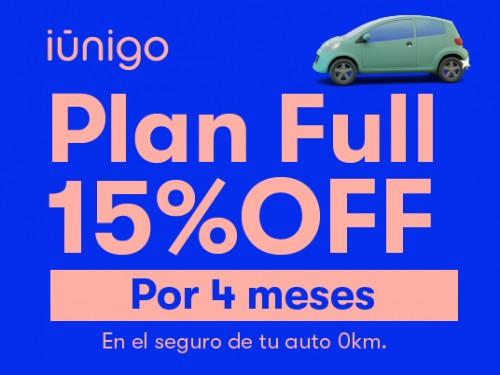 Seguro de todo riesgo para tu auto 0KM con 15% OFF por 4 meses