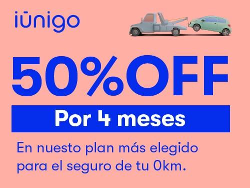 Seguro de terceros completos para tu auto 0KM con 50% OFF por 4 meses