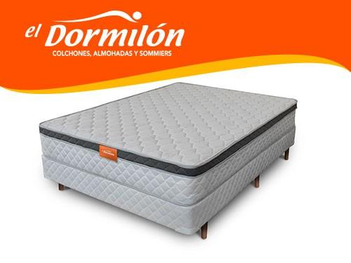 Sommier y Colchon 2 Plazas 140X190 PRANA El Dormilon