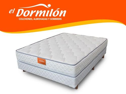 Sommier y Colchon 2 Plazas 140x190 DEVAS El Dormilon