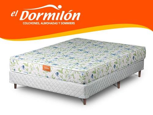Sommier y Colchon 2 Plazas 140x190 AMARA El Dormilon