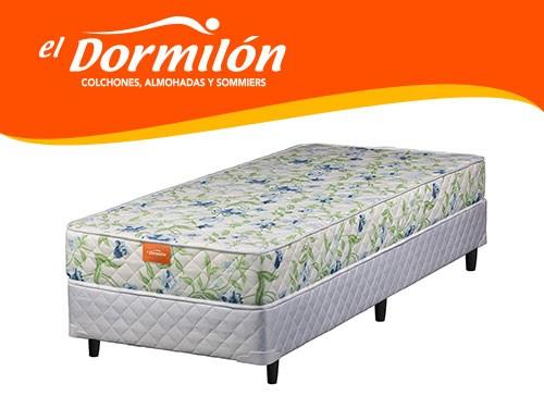 Sommier y Colchon 1 Plaza 80x190 AMARA El Dormilon