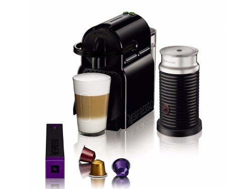 Cafetera Inissia Negra + Aeroccino 3 Nespresso