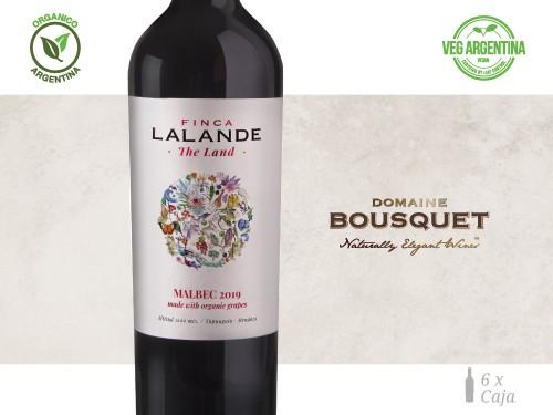 Vino Malbec Organico 6x750 ml. Finca Lalande