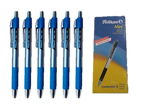 Bolígrafo Pelikan Mini Fine x 12 - trazo fino (azul)