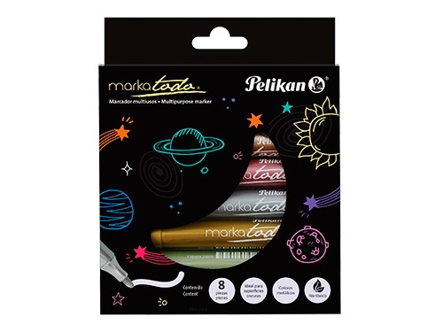 Marcadores Pelikan Markatodo metalizados x 8 colores