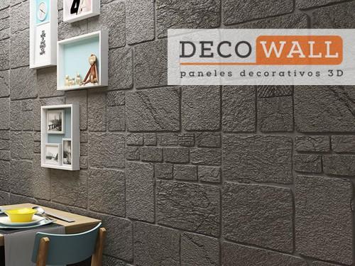 Revestimiento Piedra Autoadhesivo pared en 3D Aislante Decowall