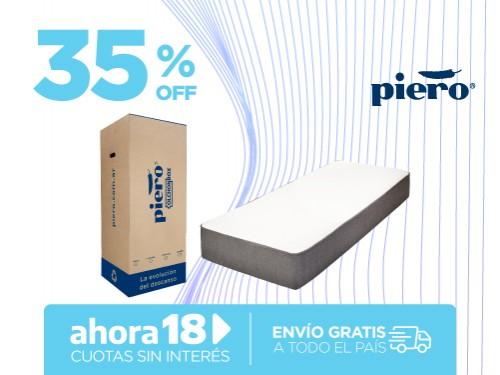 Colchón Piero Colchónbox 190x80 En Caja 1 Plaza