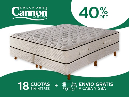 Sommier y Colchón Cannon Sublime 200x200 Resortes King