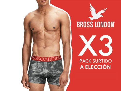 Boxers hombre Estampados Pack x3