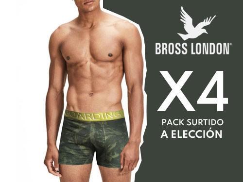 Boxers Hombre Estampados Pack x4