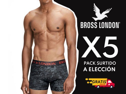 Boxers Hombre Estampados Pack x5
