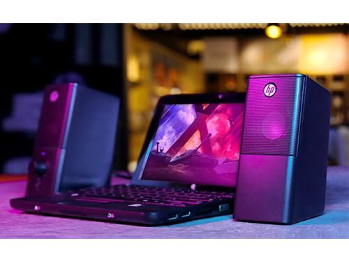 Parlantes para PC con control de Volumen y entrada Auriculares - HP