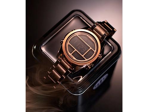 Reloj Sumergible Digital Metalizado Rose Gold - Stromberg Chain