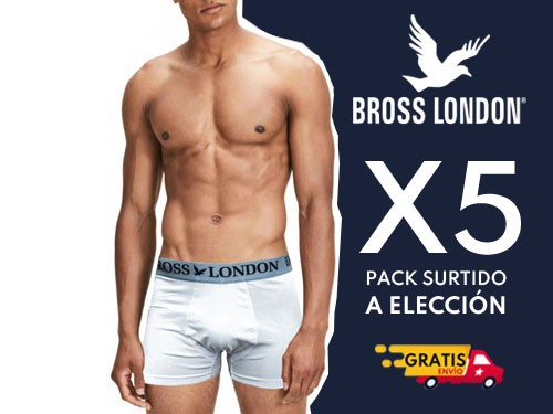 Boxer Hombre Liso Pack x5