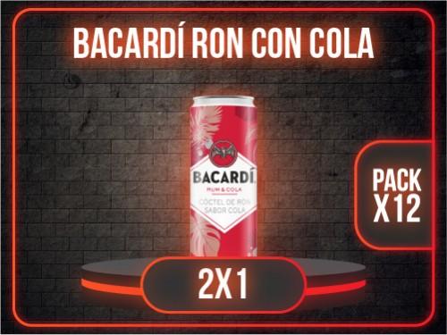LATA BACARDÍ RON CON COLA 310ml PACK x12