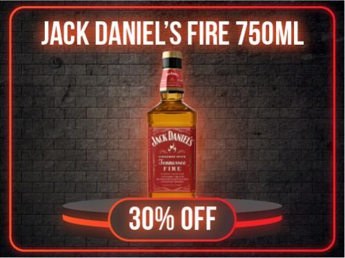 WHISKEY JACK DANIELS FIRE 750ml
