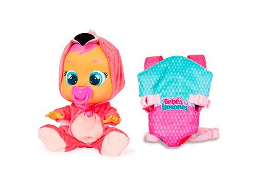 Muñeca Cry Babies Bebes Llorones + Accesorio Porta Bebe