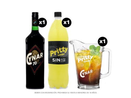 Cynar 70 + Pritty SIN AZÚCAR 1.5 L. + Jarra Vidrio 1 L.