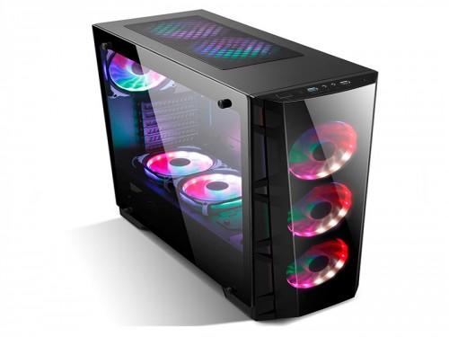 Gabinete Gamer Pc Gamepro Z7b Templado + Fans 120 Argb