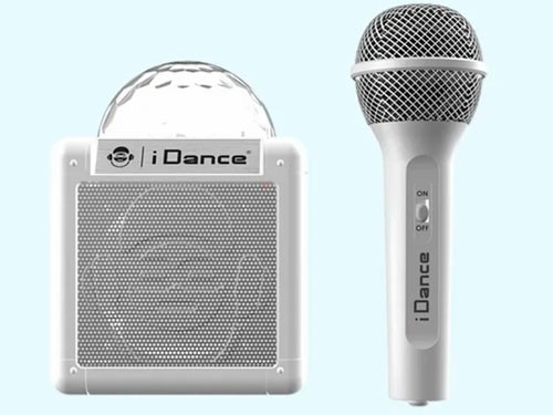 Idance Cube Sing Micrófono Karaoke + Parlante 100 Blanco