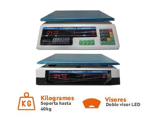 Balanza electrónica comercial hasta 40KG Eurosun EDX-1014