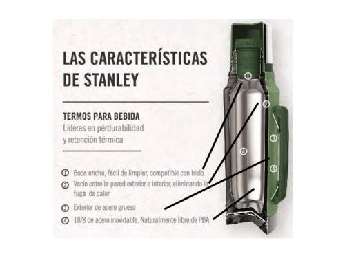 Termo Stanley Clasico - 1Lt, Rojo, Pico Cebador p/ mate