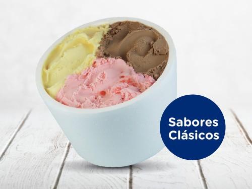 Pote 1 kilo cremas heladas (Sabores Clasicos)