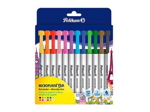 Micropuntas Pelikan colores surtidos x 12