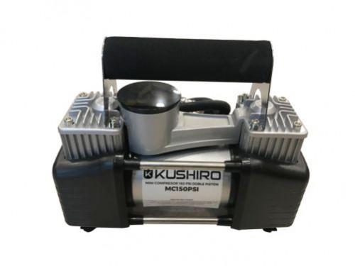 Mini Compresor Inflador 12v 150psi Doble Piston Portatil Kushiro