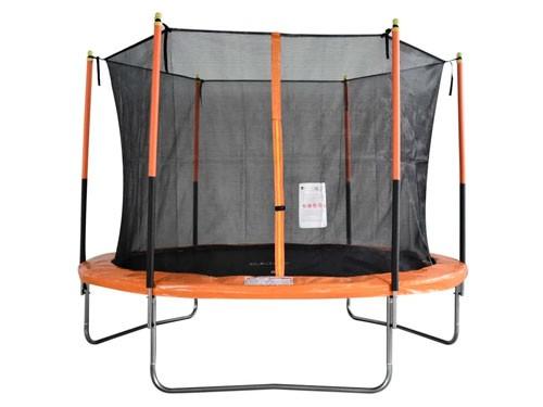 Cama Elástica Naranja Con Negro 244 Cm Tr-08