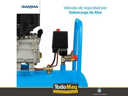 Compresor De Aire Gamma Garantia 2 Años + Kit 5 Pz Combo