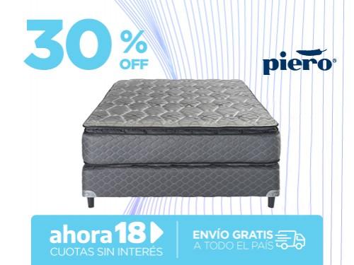 Sommier y Colchón Piero Regno Pillow 190x140 Resortes 2 Plazas