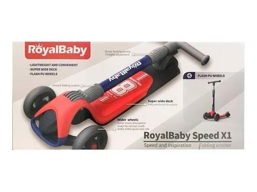 Royal Baby Monopatin Plegable Azul/rojo Rb-s1