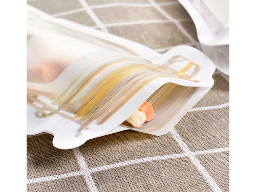Bolsas Herméticas Zipper Reutilizables Diseño Frasco Chicas