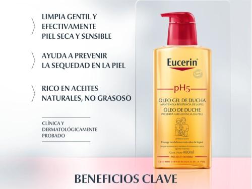 Aceite de Ducha pH5 Limpieza y Protección piel sensible 400ml Eucerin